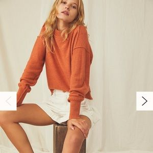 NWT Free People Cashmere Sweater, Large